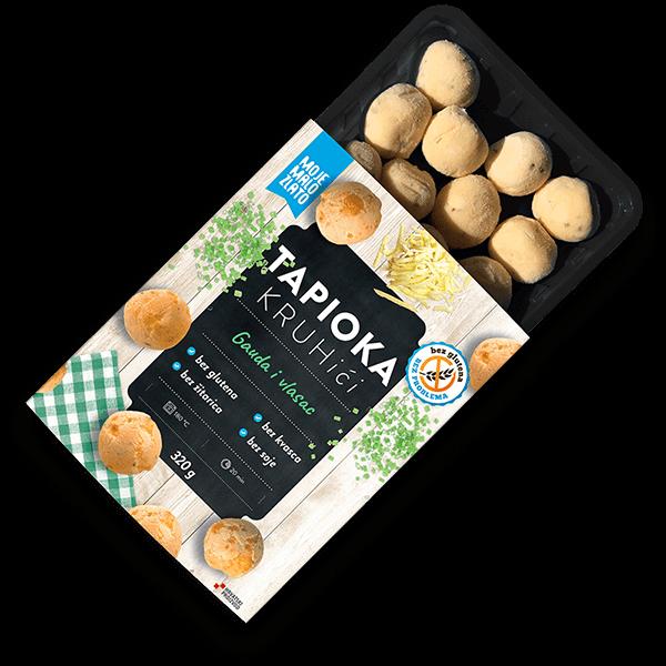 "Moje Malo Zlato -  ""Tapioca bread rolls with gouda cheese and chives"""